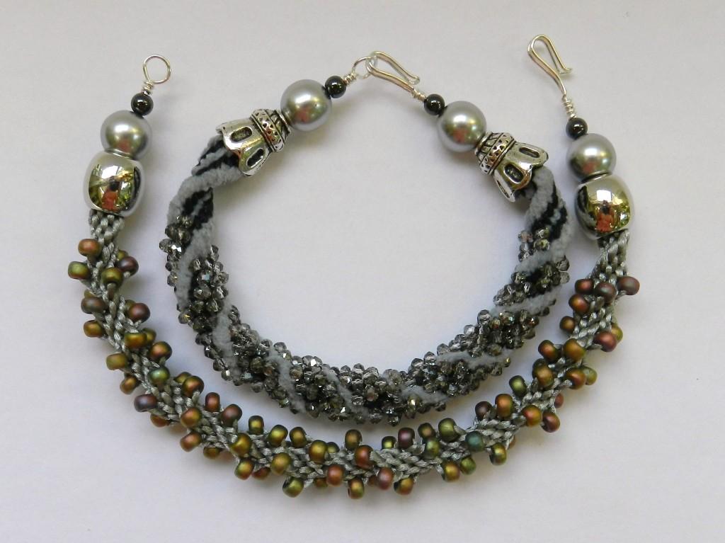 2 spiral bracelets