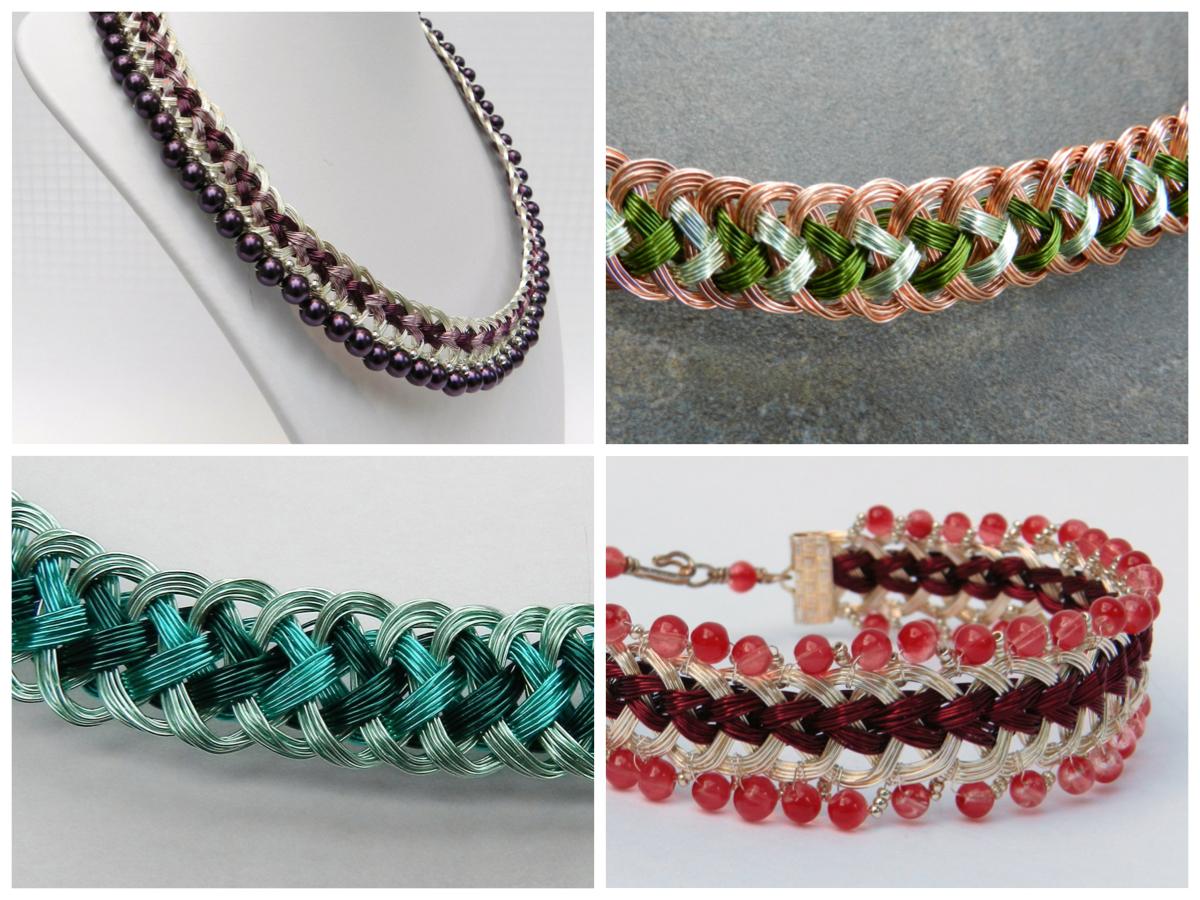 Kumihimo Wire Jewellery Tutorial Collar Prumihimo