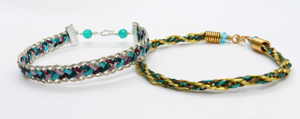 Two wire Kumihimo bracelets