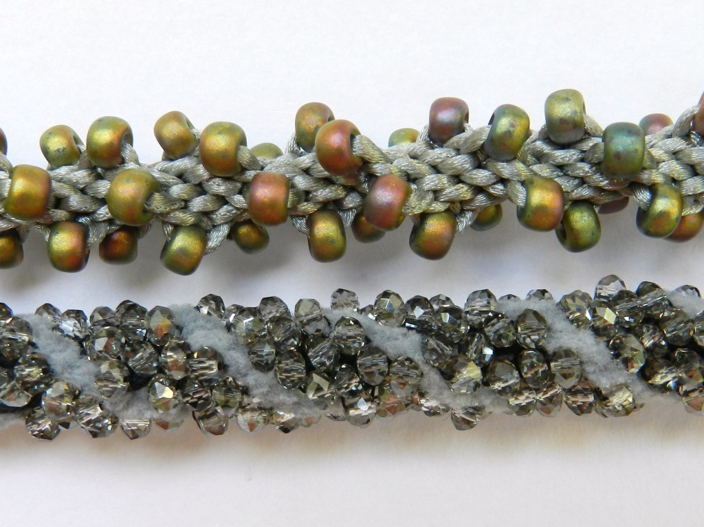 Detail of 2 spiral braids