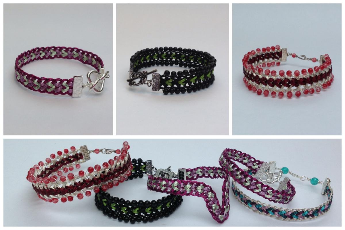 Wire Kumihimo Jewellery Tutorial Half Round Braid - Prumihimo