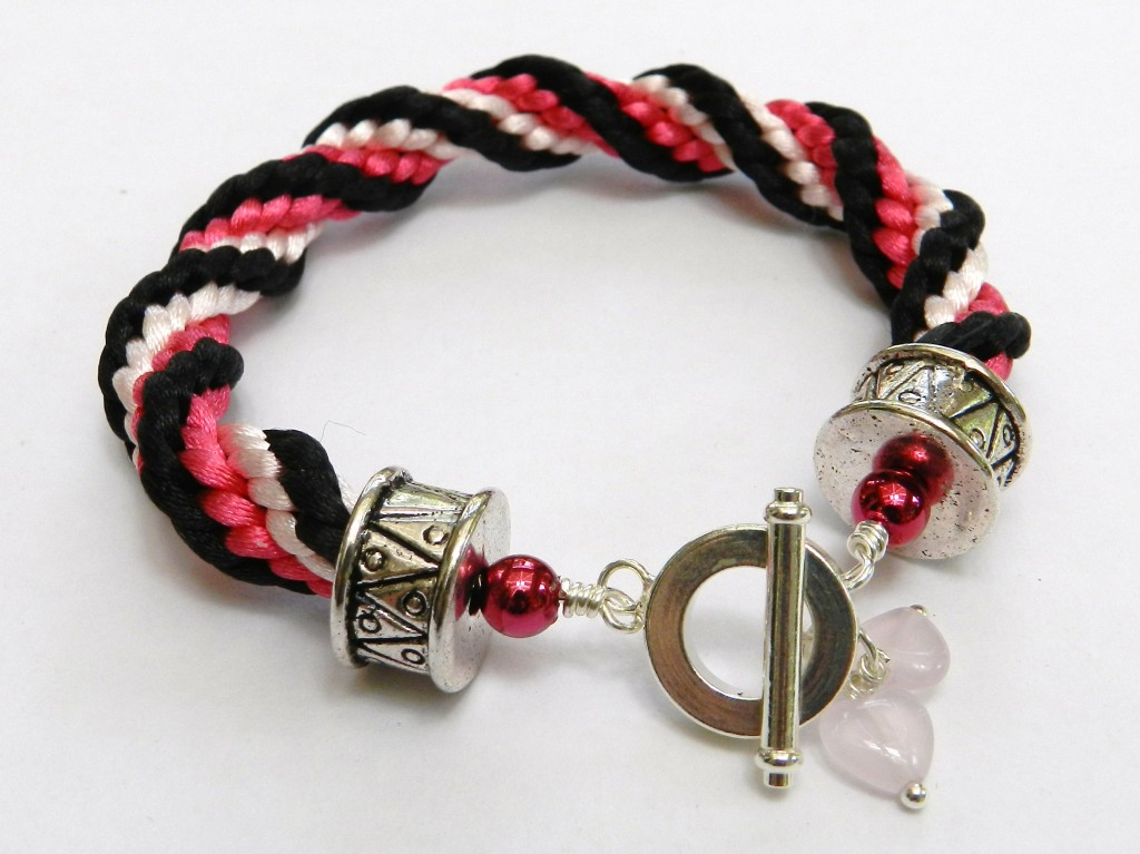 kumihimo spiral braid bracelet instructions