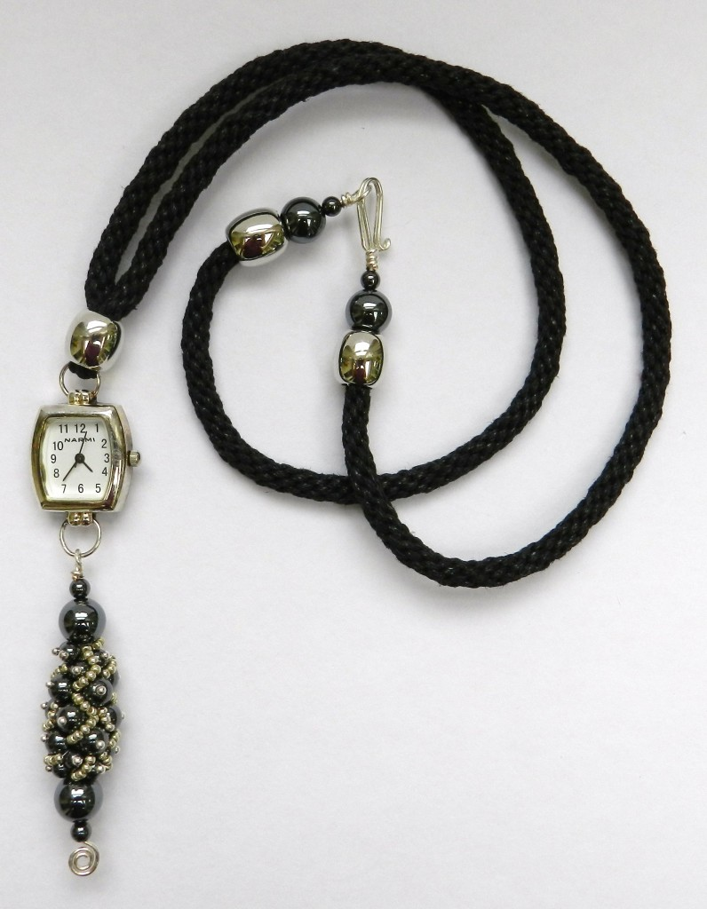 kumihimo round braid watch pendant