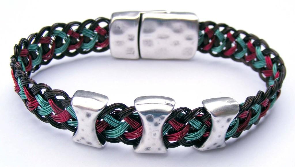 Jamie North's wire kumihimo bracelet