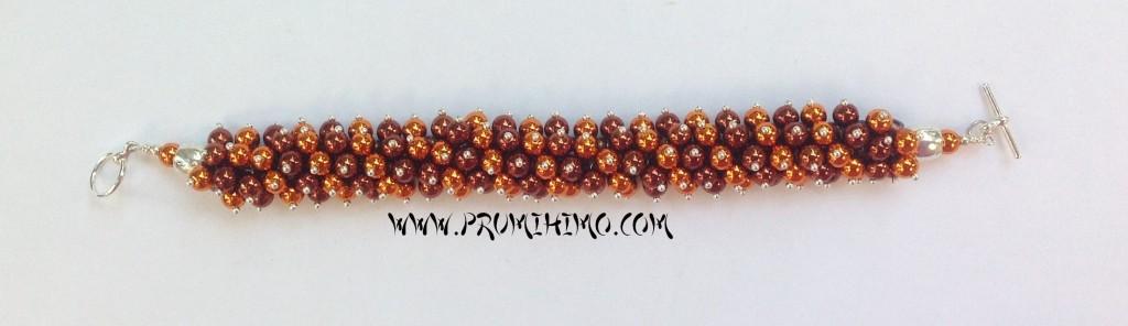 Brown and Gold Kumihimo bracelet