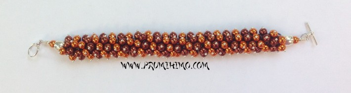 Brown and Gold Kumihimo bracelet