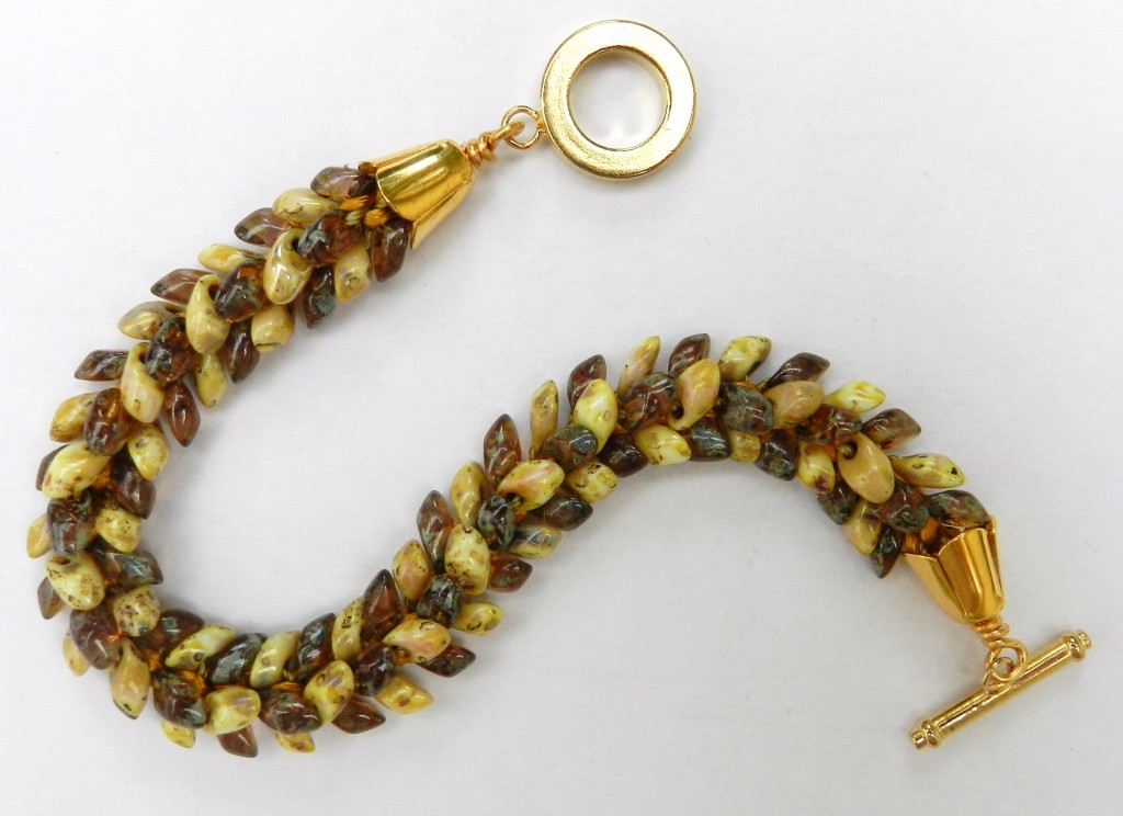 Feathers Kumihimo bracelet