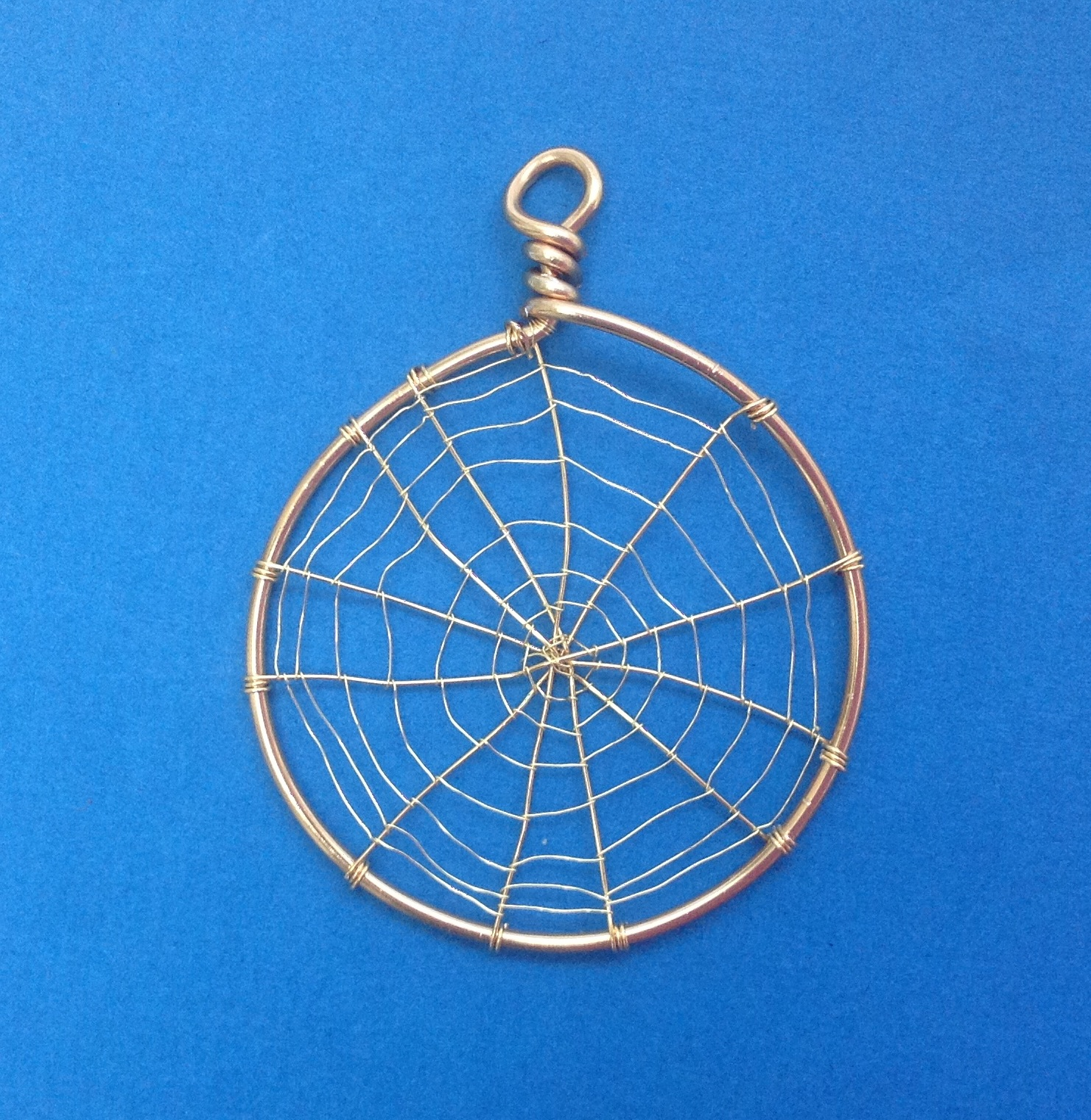 Wire Web Pendant For Kumihimo Design