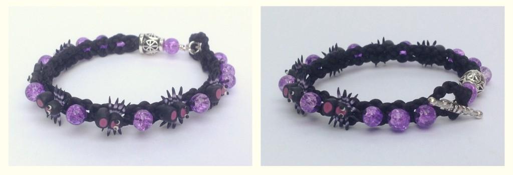 Kumihimo spider bracelets