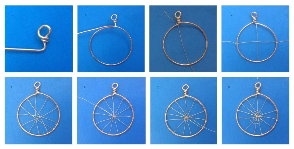 Web wirework pendant