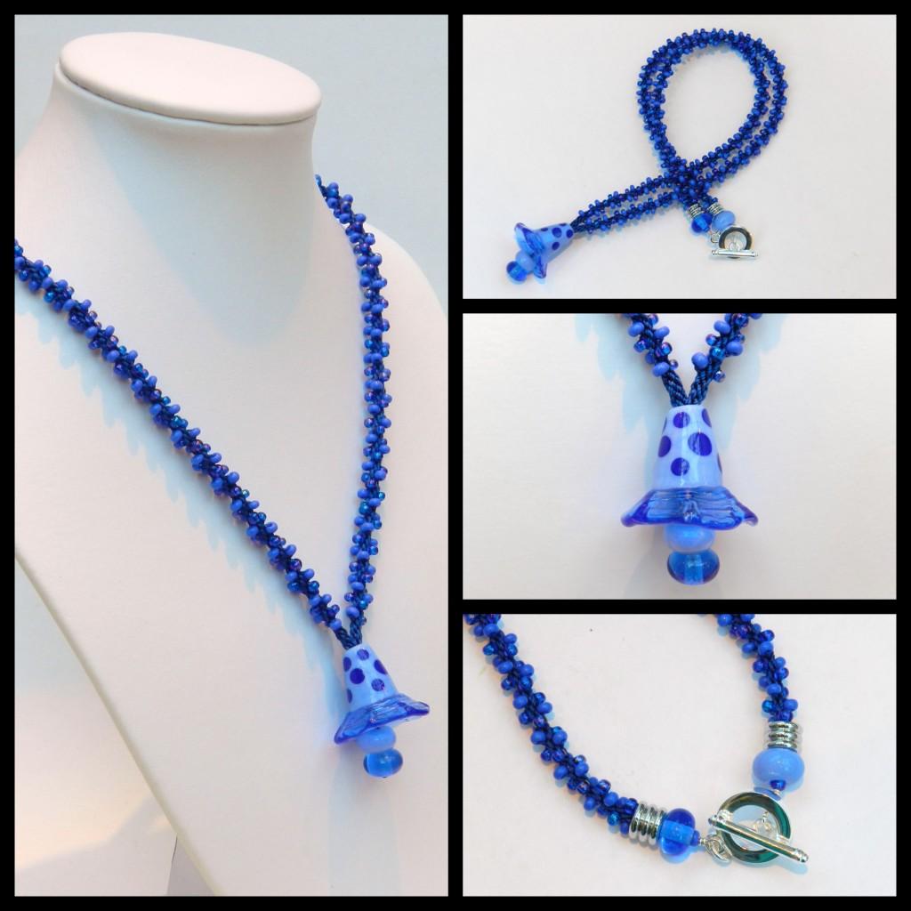 Blue pendant collage