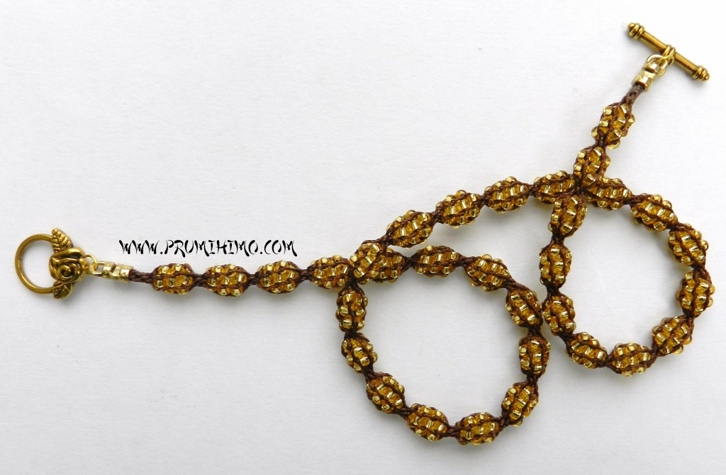 Brown and Gold Treasure Nets necklace