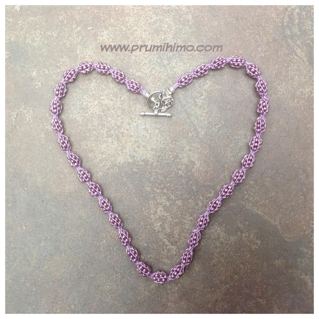 Heart shaped Treasure Net necklace