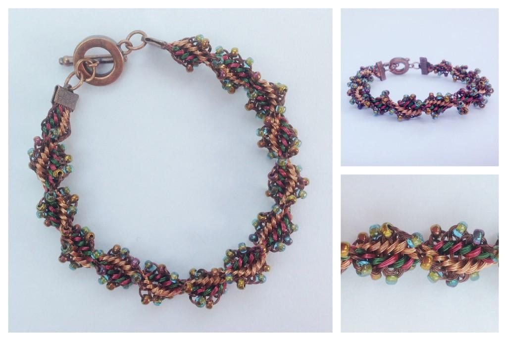 Twister Kumihimo Wire Bracelet