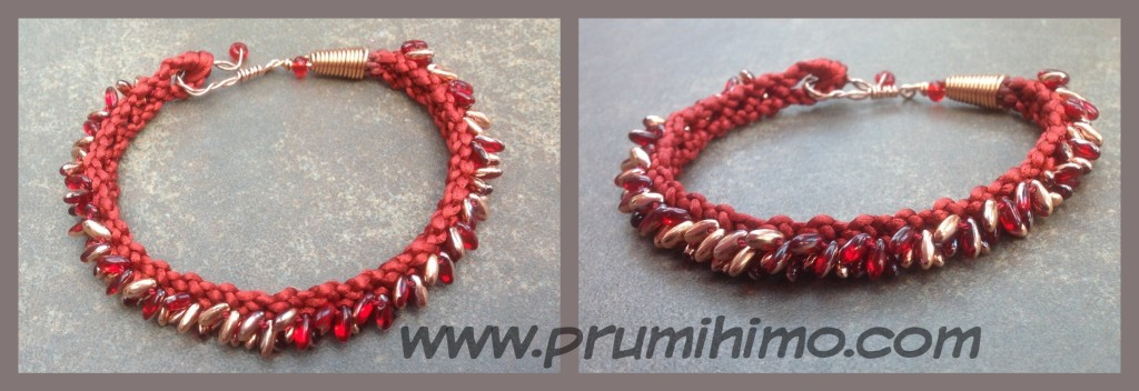 Kumihimo Bracelet with Rizo beads