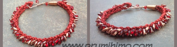 Kumihimo Bracelet with Rizo beads