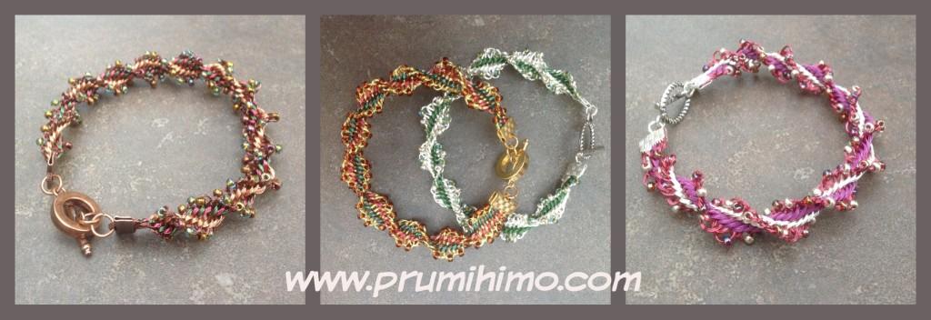 Twister wire kumihimo bracelet