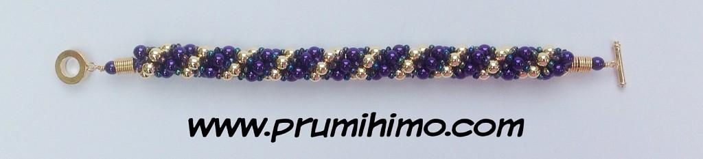 Mardi Gras kumihimo challenge bracelet