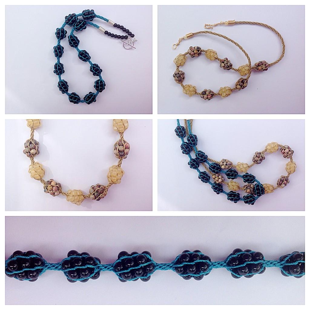 kumihimo treasure nets necklace