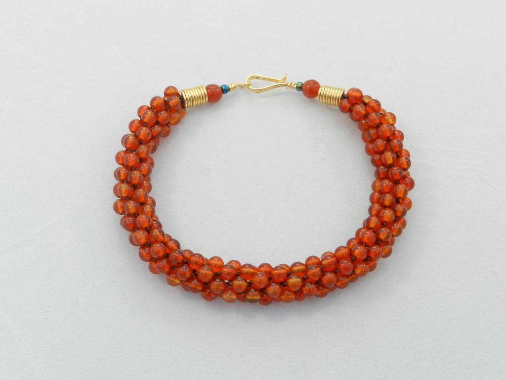 Kumihimo carnelian bracelet