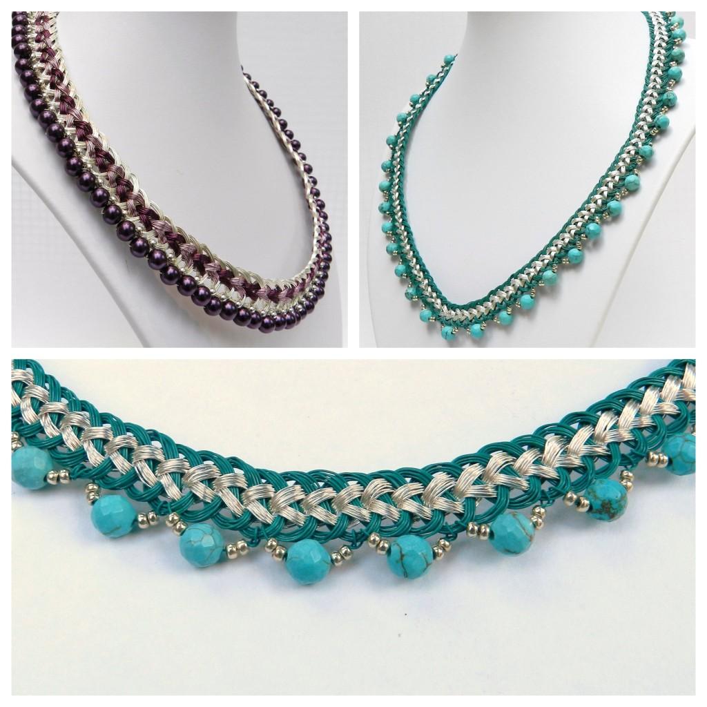 Wire collar kumihimo