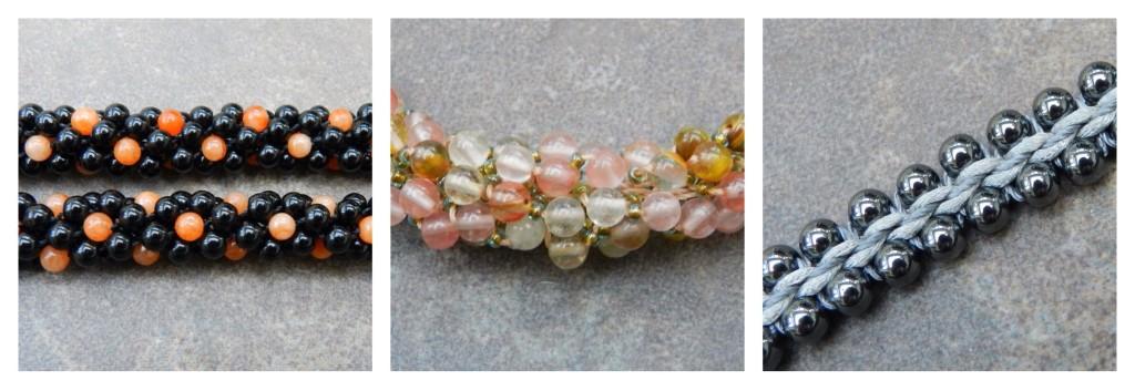 Kumihimo with 4mm beads