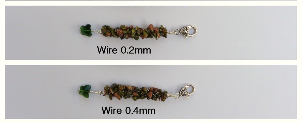wire kumihimo gemstones