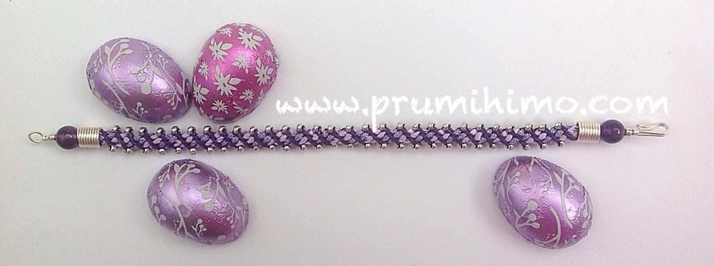 Easter kumihimo bracelet