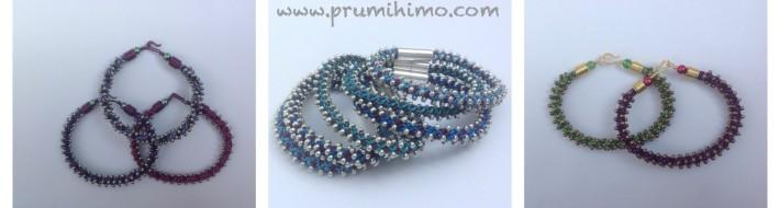 Kumihimo stacking bracelet