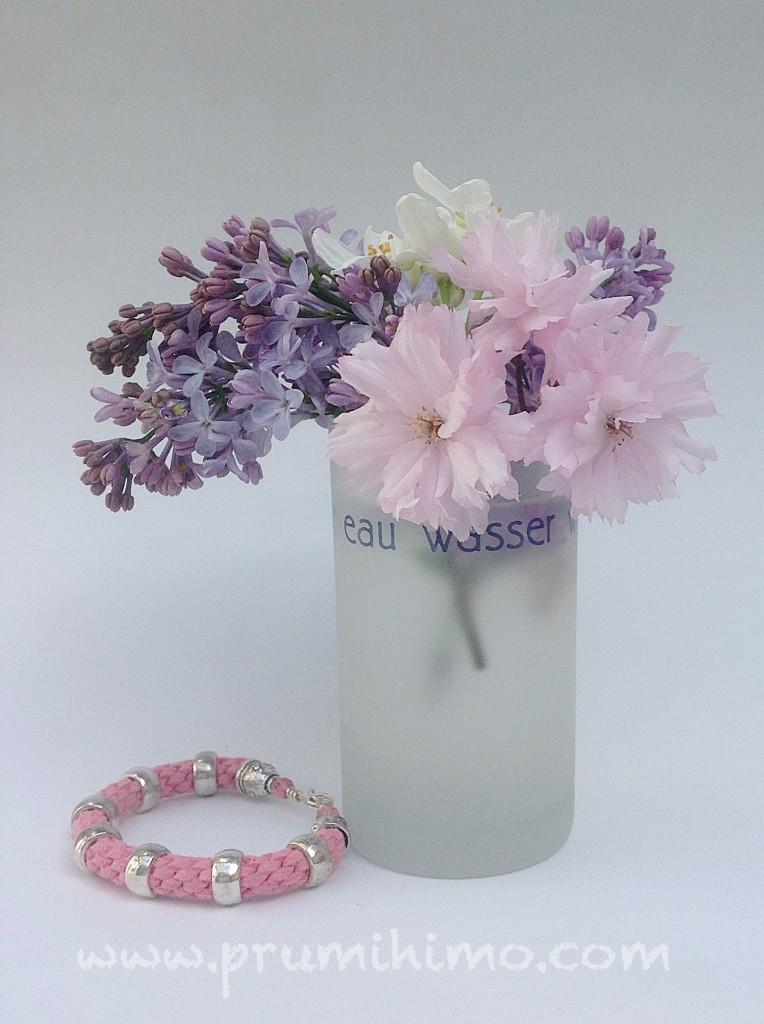 Pink Kumihimo bracelet