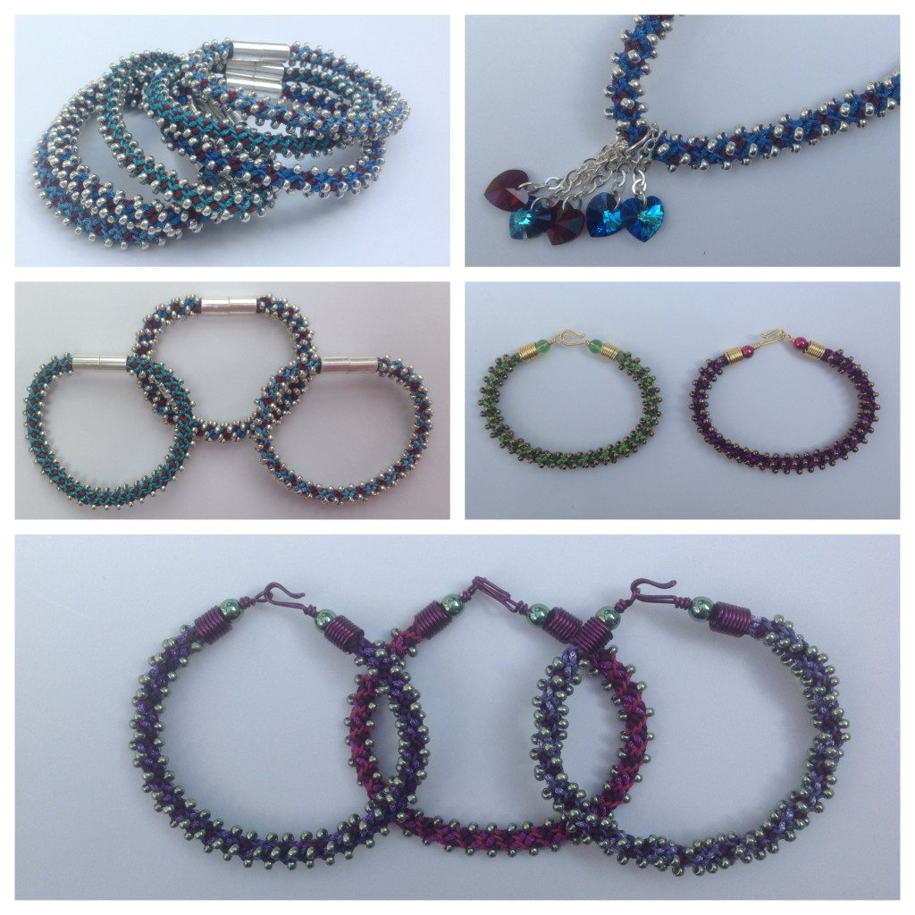 kumihimo stacking bracelets