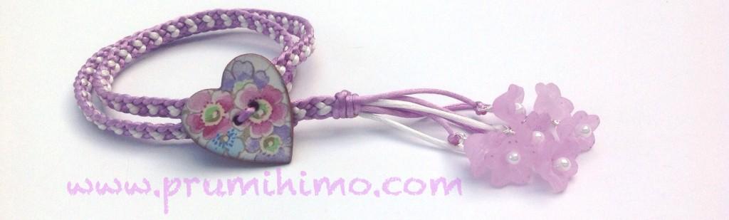 Spring Kumihimo bracelet