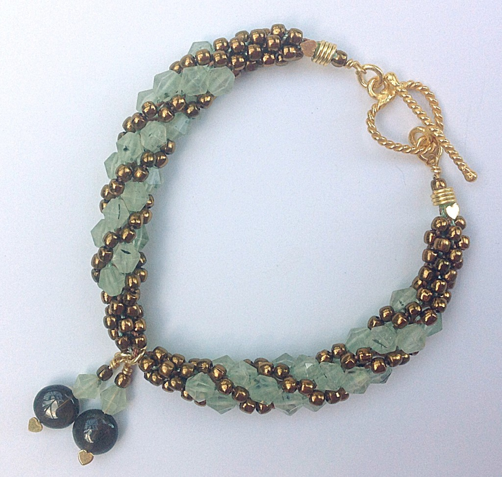 Kumihimo Prehnite bracelet