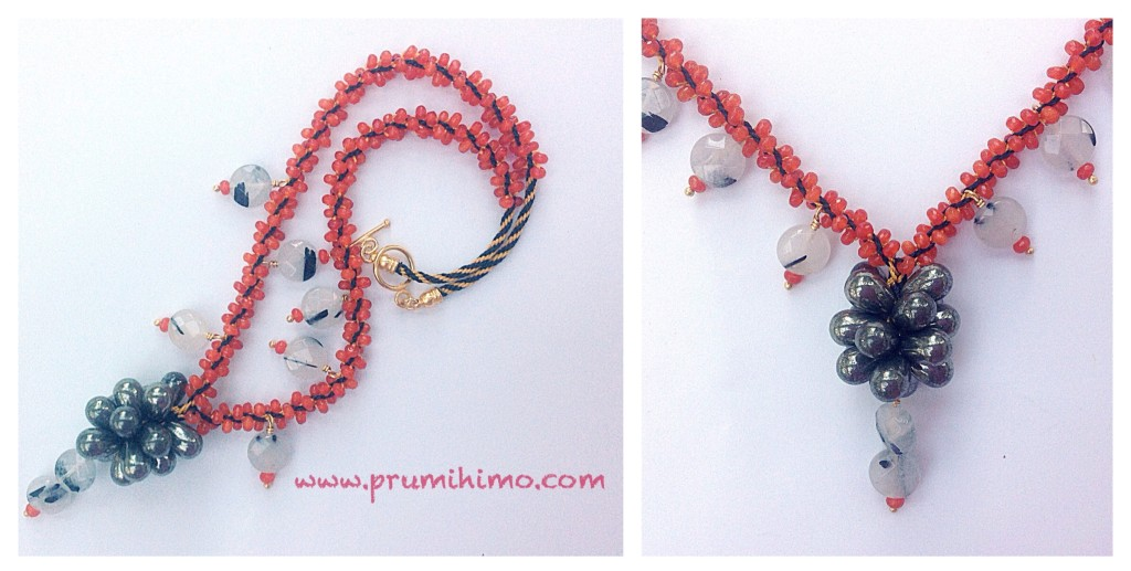 Gemstone Kumihimo necklace