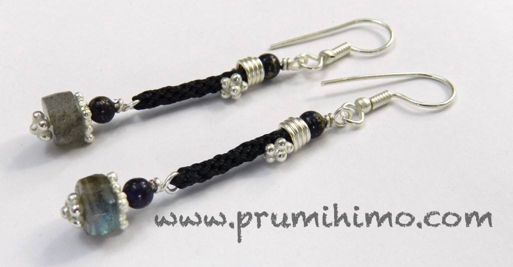 Kumihimo and labradorite Earrings