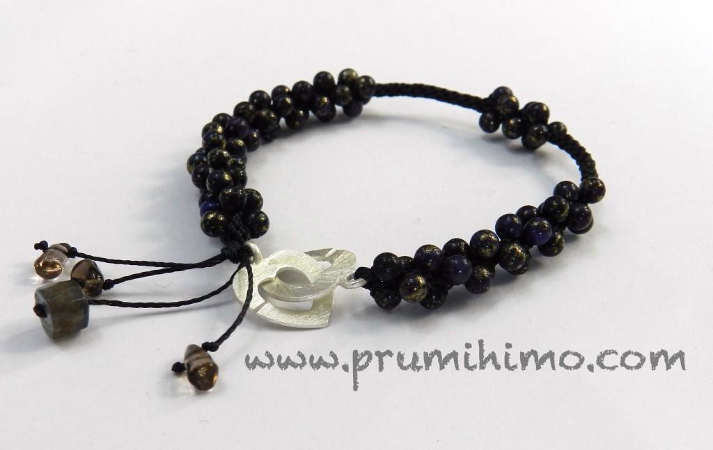 Kumihimo marcasite bracelet