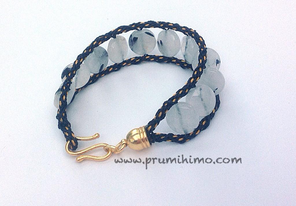 Kumihimo wrap bracelet