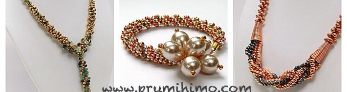 Metal seed bead kumihimo