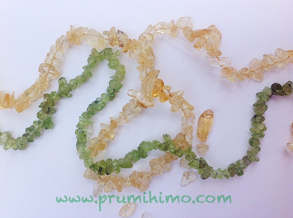 Citrine and peridot for kumihimo