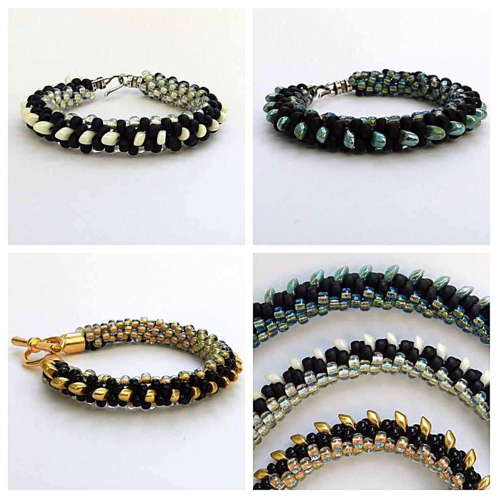 Kumihimo magatama bracelet tutorial