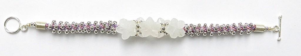 Rose Quartz kumihimo bracelet