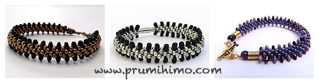 Kumihimo edged bracelets