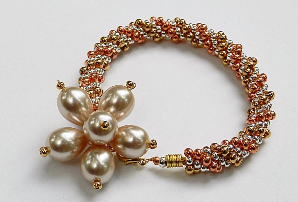 3 colour kumihimo bracelet