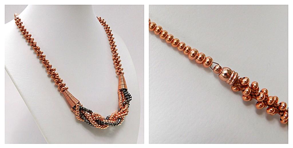 Pyrite Kumihimo necklace