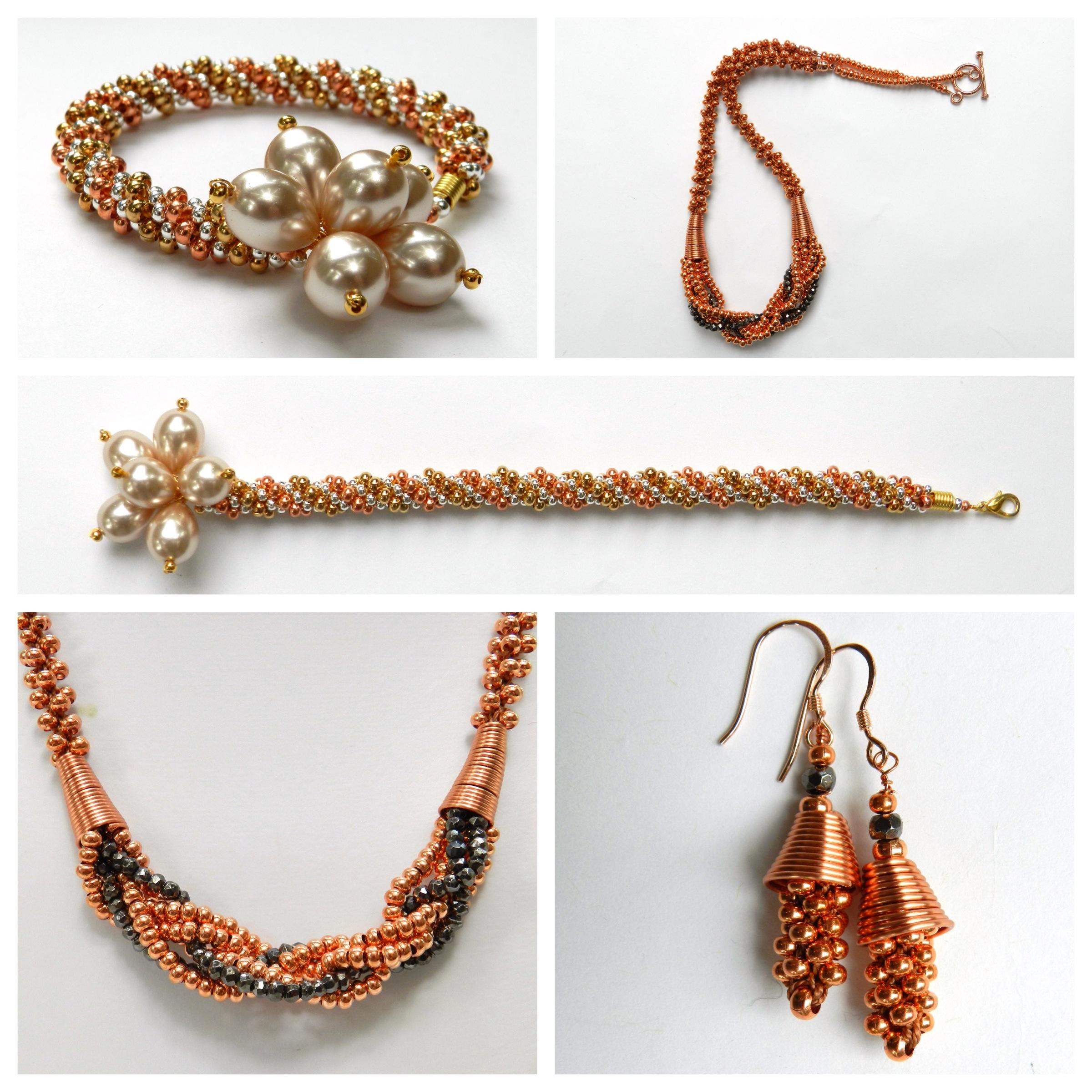 Designs Beads: Metal Seed Bead Kumihimo Designs By Pru McRae