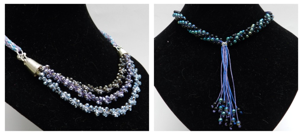 Pyrite and quartz kumihimo jewellery