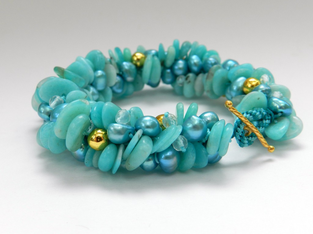 Amazonite kumihimo bracelet