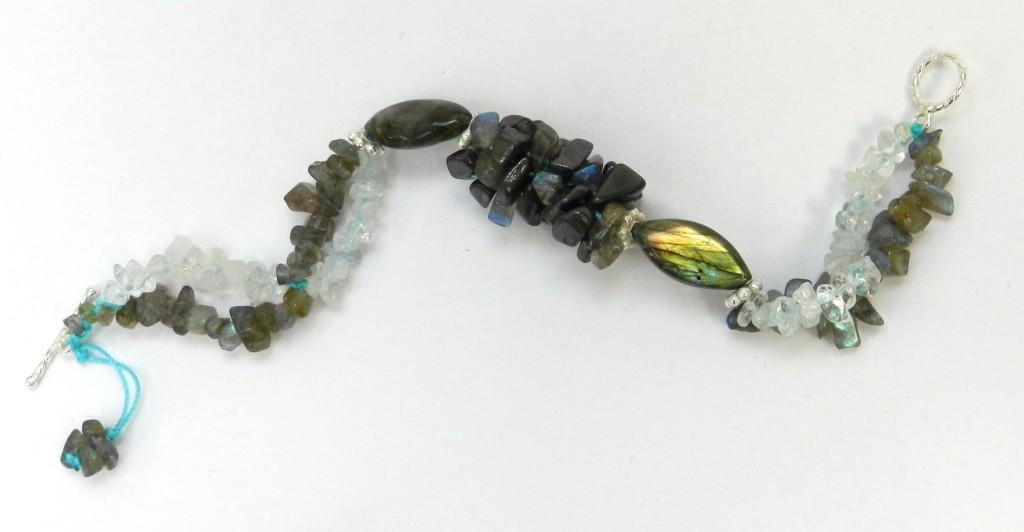 Labradorite kumihimo bracelet