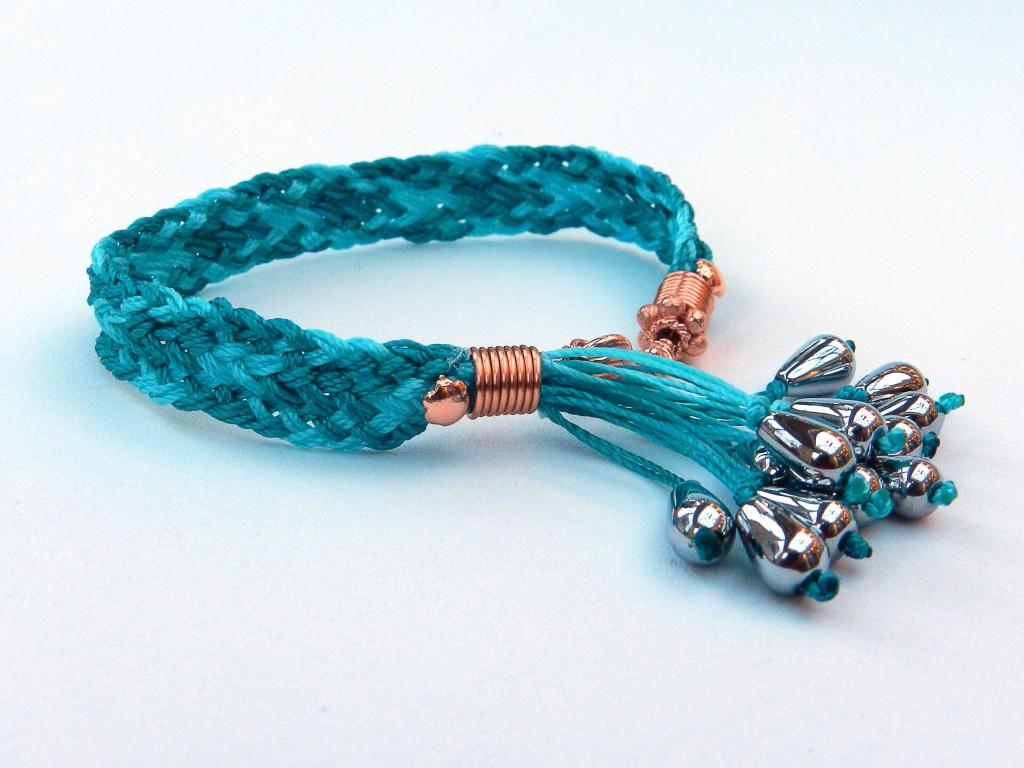 Kumihimo flat braid bracelet