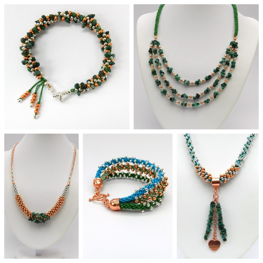 Genuine Emerald kumihimo jewellery